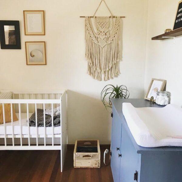 baby room macramé decor
