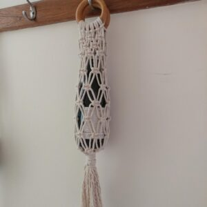 Macramé wine tote bottle carrier
